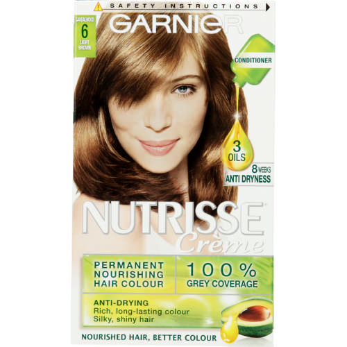 Nutrisse Creme Hair Colour 6 Light Brown 1 Application