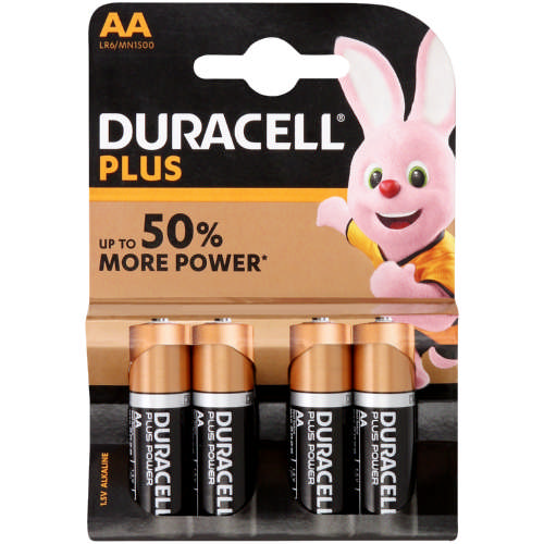 Plus Alkaline Batteries AA 4s
