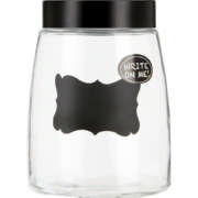 Glass Canister With Chalkboard Decal Medium