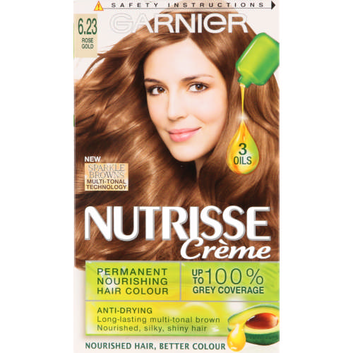 Nutrisse Creme Permanent Nourishing Hair Colour Rose Gold 6.23