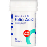 Pay Less Folic Acid Supplement 60 Tablets