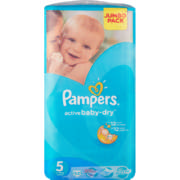 Active Baby-Dry Disposable Nappies Jumbo Pack Size 5 52 Nappies
