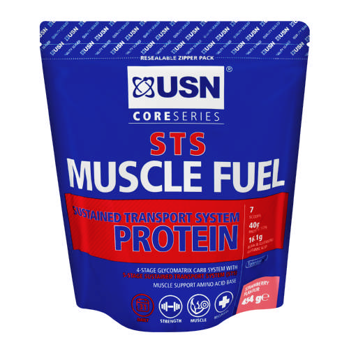 Muscle Fuel STS High Protein Sport Shake Strawberry 454g