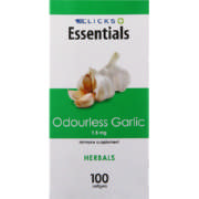 Essentials Odourless Garlic 1.5mg 100 Softgels