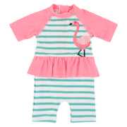 Flammingo Costume Girls 3-6 months