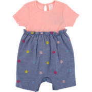 Girls Colour Block Romper S20 0-3M