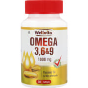 Omega 3,6+9 1000mg Flaxseed Oil Softgels 30 Softgels