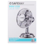 Safeway Retro USB Fan Silver