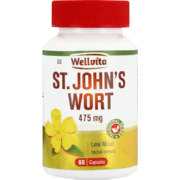475mg St.John's Wort Low Mood Herbal Remedy Capsules 60 Capsules
