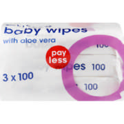 Payless Baby Wipes With Aloe Vera 3 packs x 100 Wipes