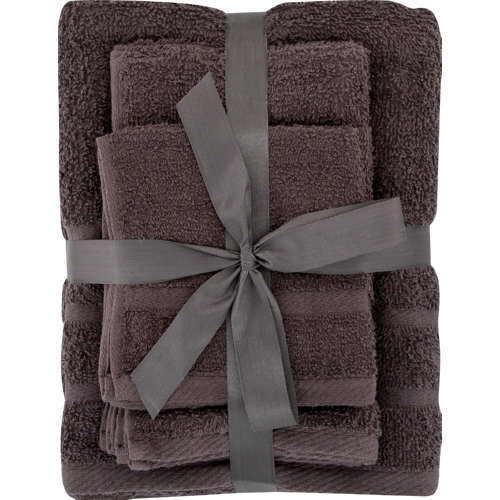 Towel Set Charcoal 6pc