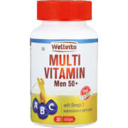 MultiVitamin Men 50+ With Omega 3 Softgels 30 Softgels