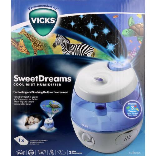 Vicks Cool Mist Sweet Dreams Humidifier Clicks