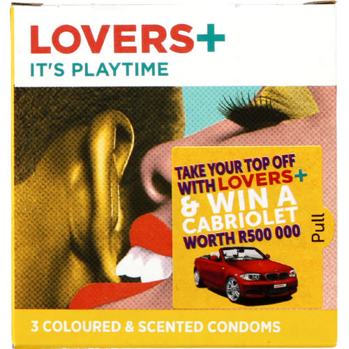 Condoms Coloured & Scented 3 Condoms