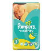 Newbaby-Dry Newborn Disposable Nappies Size 1 43 Nappies