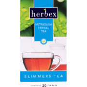 Slimmers Metabolism Herbal Tea 20 Tea Bags