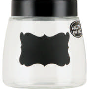 Glass Canister With Chalkboard Decal Small