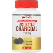 Activated Charcoal 250mg 30's