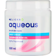 Aqueous Body Cream Rose Oil 500ml