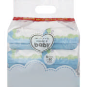 Sensitive Baby Wipes 6 x 80 Wipes