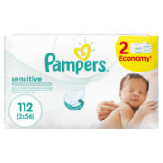 Sensitive Baby Wipes 2x 56 Wipes