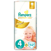 Premium Care Disposable Nappies Size 4 52 Nappies