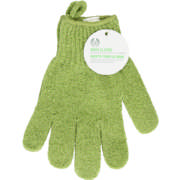 Bath Gloves with Loop Green