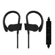 Sports Hook-In With Mic In Ear Headphones Black