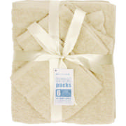 Home 6 Piece Towel Set Cream