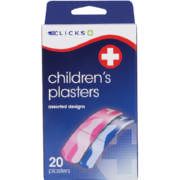 Children's Plasters Assorted 20 Plasters