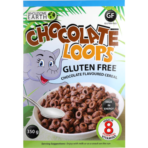 Gluten Free Chocolate Loops Cereal 350g