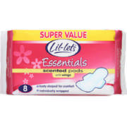 Essentials Winged Pads Scented 8 Pads