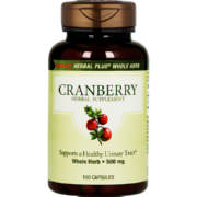 Herbal Plus Whole Herb Cranberry 100 Capsules