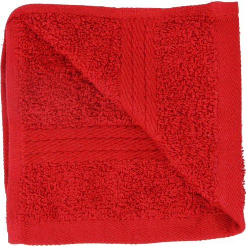 Cotton Guest Towel Red