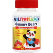 Multivitamin Raspberry 60 Gummy Bears