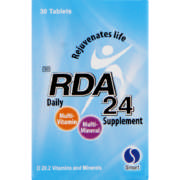 RDA 24 Daily Supplement 30 Tablets