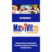 25 All In One Maxi Supplement Veggie Capsules 30  Capsules