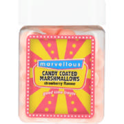 Candy Coated Strawberry Mallows 80g