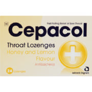 Throat Lozenges Honey And Lemon 24 Lozenges