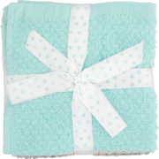 Face Cloth Set Blush, Turquoise, White & Grey 4 Piece