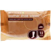 Leather Shoe Wipes 12 Wipes