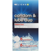 Condoms Microfine Condoms And Lube 6 condoms