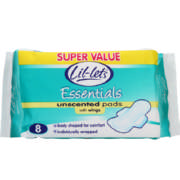 Essentials Winged Pads Unscented 8 Pads