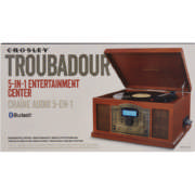 Troubador 3-Speed Bluetooth Turntable Paprika