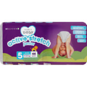 Made 4 Baby Active Stretch Nappies Junior 44 Pack